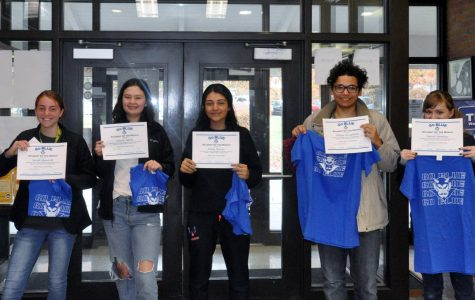 October GO BLUE students of the month honored
