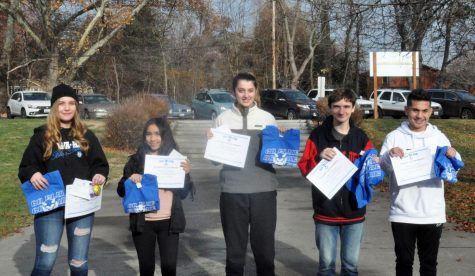 November GO BLUE students of the month honored